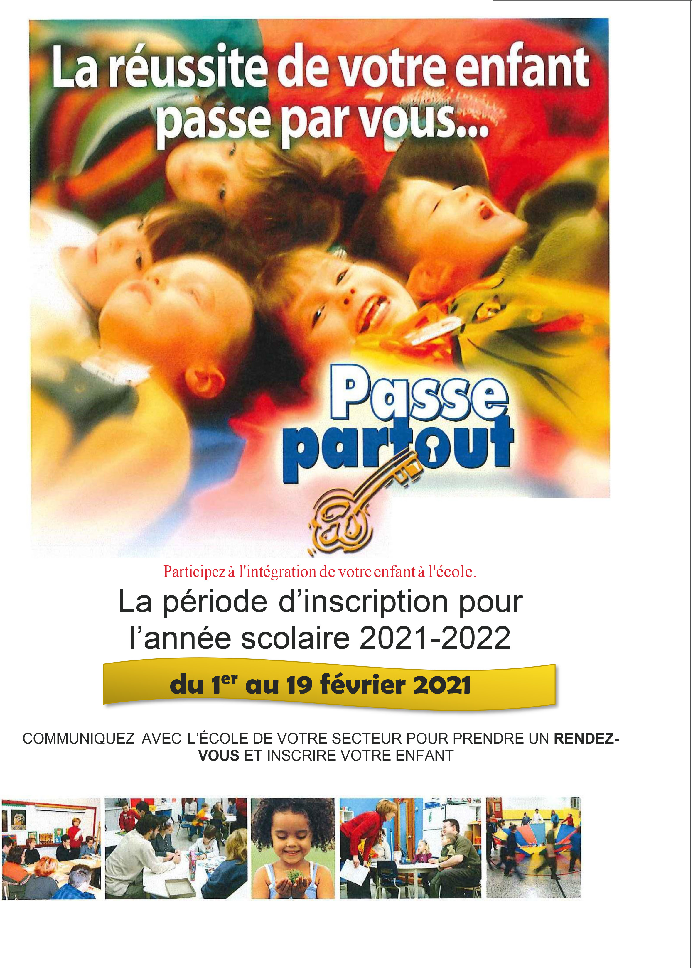 Priode dinscription Passe Partout 2021 01 21